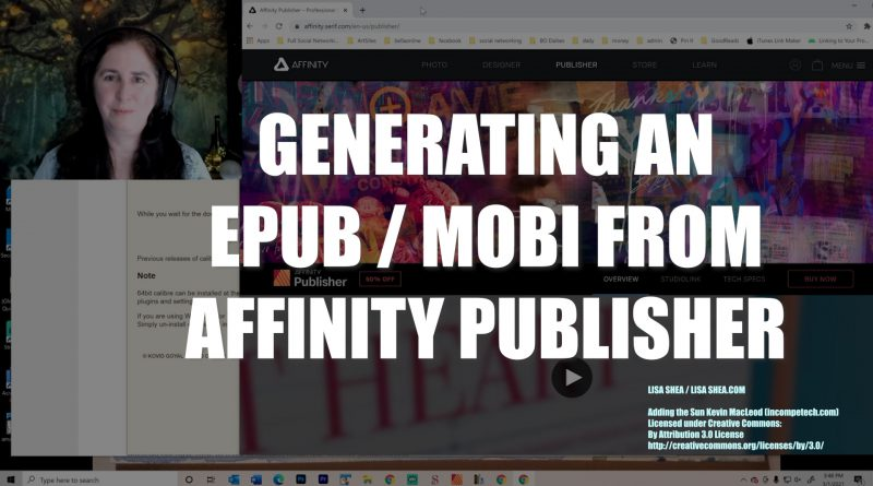 Generating an EPUB or MOBI file from Affinity Publisher using Calibre and SIGIL